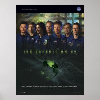 Poster de la misión de la expedición 20 del ISS