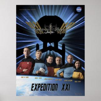 Poster de la misión de la expedición 21 del ISS