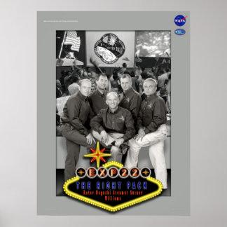 Poster de la misión de la expedición 22 del ISS