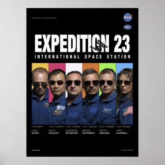 Poster de la misión de la expedición 23 del ISS