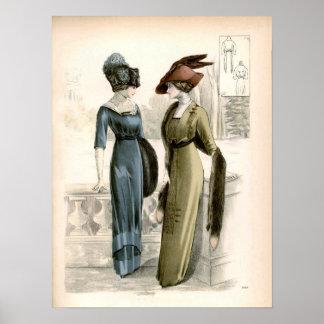 Poster de la moda de Edwardian del vintage