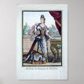 Poster de la moda de los fin del siglo XVII