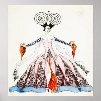 Poster de la moda del art déco de Jorte Barbier