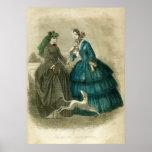 Poster de la moda del Victorian del vintage