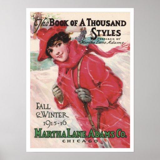 Poster de la moda del vintage