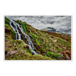 poster de la montaña de Escocia de la cascada a Póster