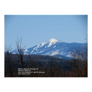 Poster de la montaña de Whiteface