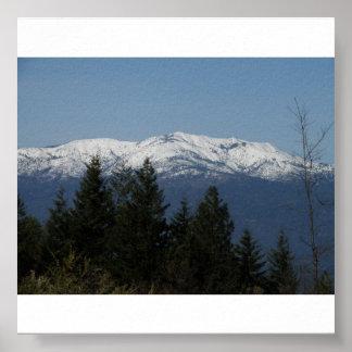 Poster de la montaña del casco póster
