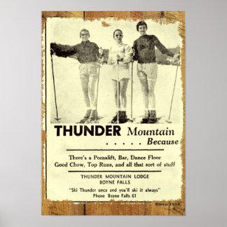 Poster de la montaña del trueno póster