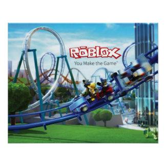 Poster de la montaña rusa de ROBLOX