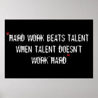 Poster de la motivación del entrenamiento