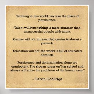 Poster de la motivación - persistencia