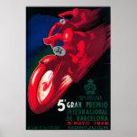Poster de la motocicleta de 5 Gran Premio Internat