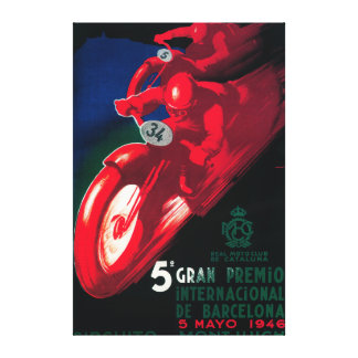 Poster de la motocicleta de 5 Gran Premio Internat Impresiones En Lienzo Estiradas