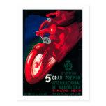 Poster de la motocicleta de 5 Gran Premio Internat Tarjetas Postales