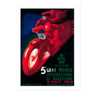 Poster de la motocicleta de 5 Gran Premio Postales