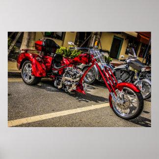 Poster de la motocicleta de Harley Davidson
