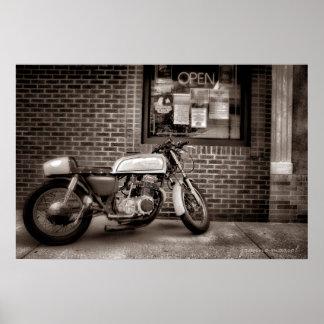 Poster de la motocicleta de lunes