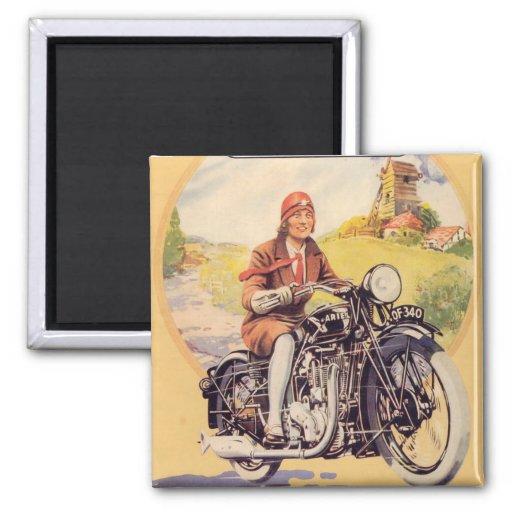 Poster de la motocicleta del vintage imanes