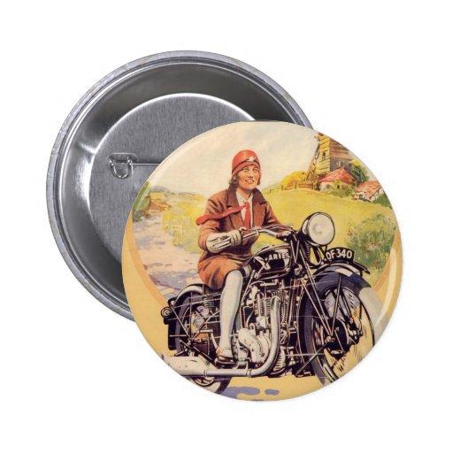 Poster de la motocicleta del vintage pins