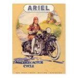 Poster de la motocicleta del vintage postal