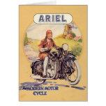 Poster de la motocicleta del vintage felicitaciones