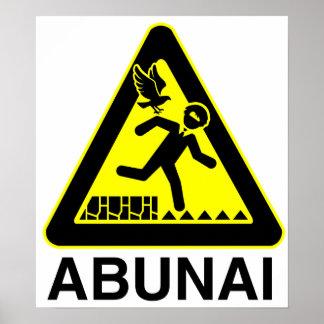 Poster de la muestra de Abunai