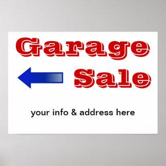 Poster de la muestra de la venta de garaje