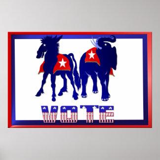 Poster de la muestra de la yarda del voto
