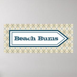 Poster de la muestra de los vagos de la playa