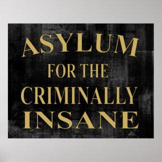 Poster de la muestra del asilo