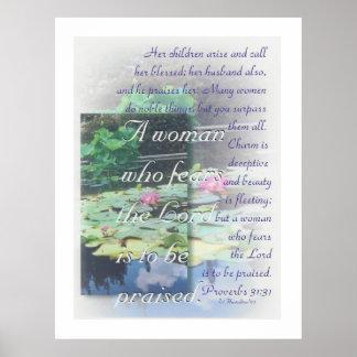 Poster de la mujer de los proverbios 31