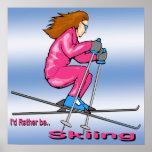 Poster de la mujer del esquí