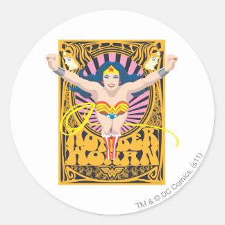 Poster de la Mujer Maravilla Pegatina Redonda