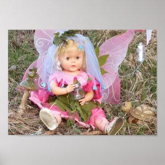 Poster de la muñeca del vintage de Fairie
