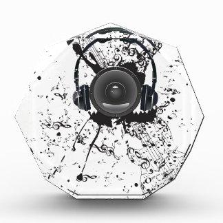 Poster de la música con el altavoz de audio 4