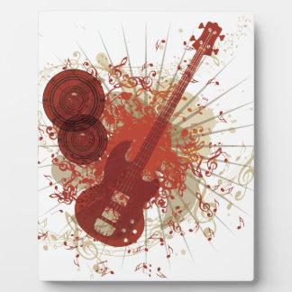 Poster de la música con la guitarra 5 placas