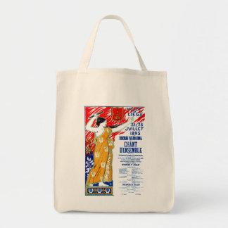 Poster de la música de 1895 corales bolsa tela para la compra