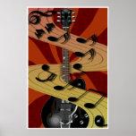 Poster de la música de la guitarra