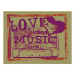 Poster de la música de los oldies del amor del vin