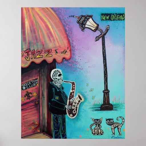 Poster de la música de New Orleans