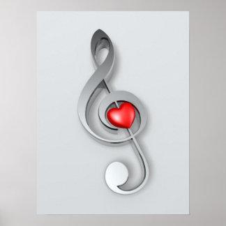 Poster de la música del amor