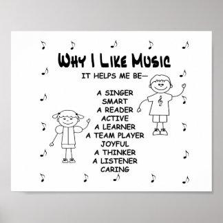 """Poster de la música """"porqué tengo gusto de música"""
