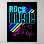 Poster de la música rock