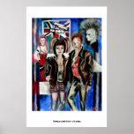 Poster de la música y de la moda de punk rock por