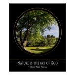Poster de la naturaleza - arte de dios