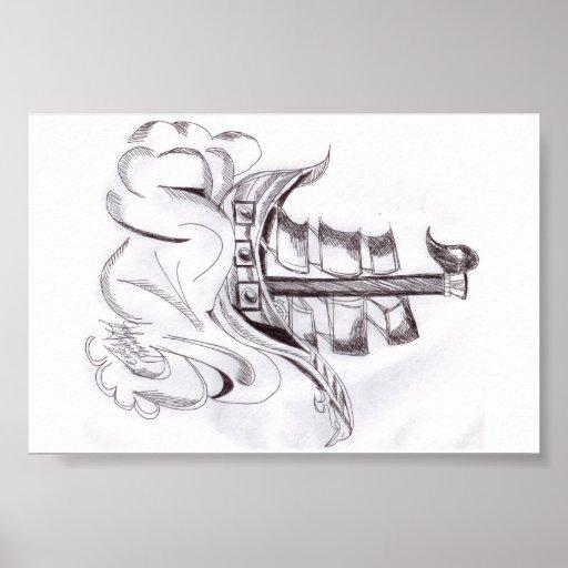 Poster de la nave del mar