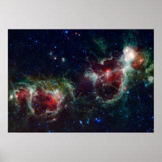 Poster de la nebulosa del corazón y del alma