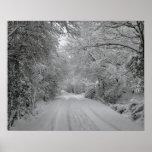 Poster de la nieve del invierno