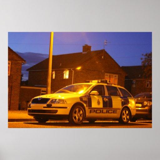 poster de la noche del coche policía